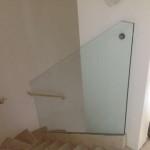 Celoskleněné zábradlí schodiště