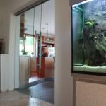 Posuvné celoskleněné dveře - ESG sklo float
