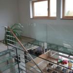 Skleněné schodiště - komplex skleněných prvků