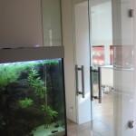 Celoskleněné dveře kyvné - ESG sklo float